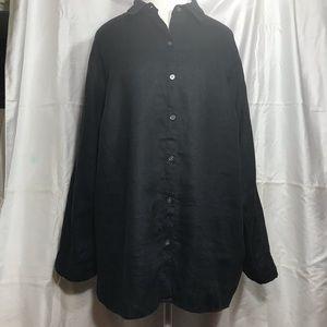 Love linen J jill long sleeve button down